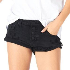 One Teaspoon Bandits Cut Off Shorts in Black Oak